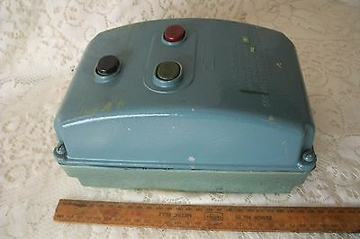 Vintage A.C Magnetic Line Starter Security Electric Pty Max 600 V HP15 Australia