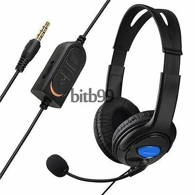 Wired Gaming Headset Headphones with Microphone for Sony PS4 PlayStation 4 PC M2