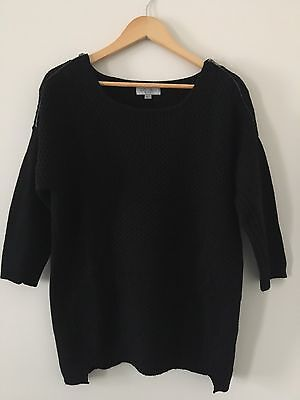 JUST JEANS Black Knitted Jumper Women's Size Small S