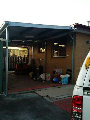 4 x7 m steel carport for sale price neg pick up only
