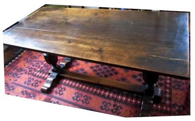 Dining Room Table Solid Oak, Antique