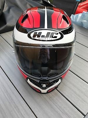 HJC FG-ST Crono Full Face Motorcycle Motorbike Helmet - Cinnati Red Black Large