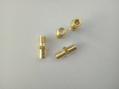 100pcs copper lot Gold  SMA Female To SMB female jack Straight RF connectors