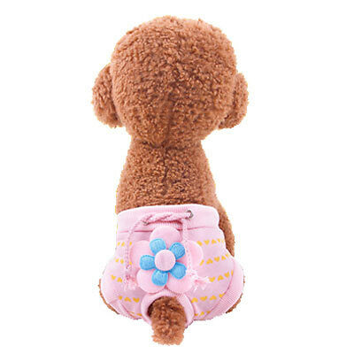 Pet Dog Heart Printed Flower Physiological Pant Puppy Diaper Sanitary Underwear