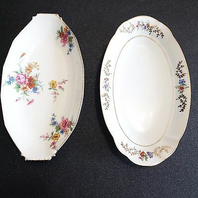 lot 2 raviers en porcelaine