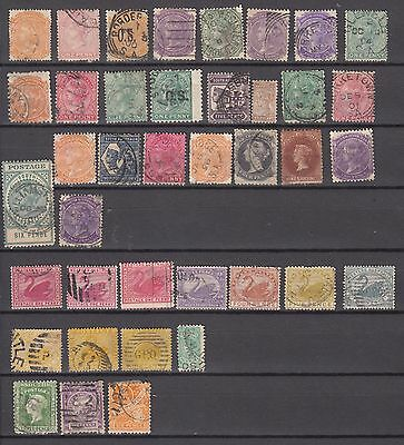 Australia. Territories 1860-1910. Lot of Used Stamps. Approx 70 Stamps. See scan