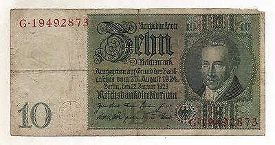 GERMANY 10 Reichsmark 1929