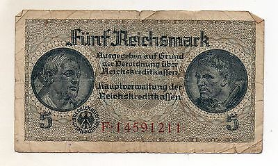 GERMANY 5 Reichsmark 1940