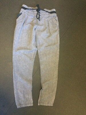 river island ;linen trousers size 10 tapered leg