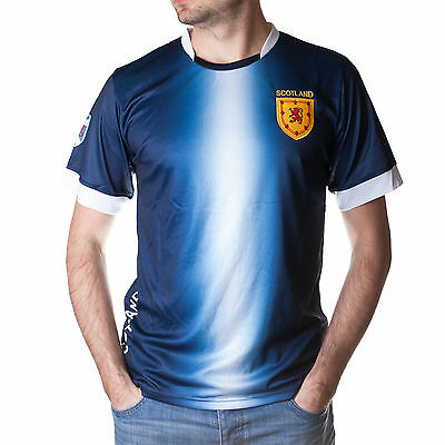 Adults SCOTLAND FOOTBALL JERSEY TOP - GREAT DESIGN & VALUE - SIZES XS to XXL !