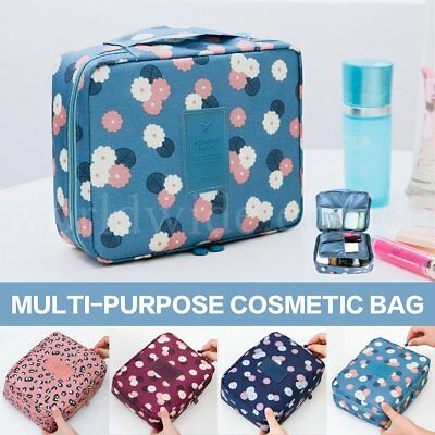 Travel Organizer Bag Accessory Toiletry Flower Cosmetic MakeUp Holder Case Pouch