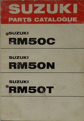 Suzuki Parts Catalogue RM50C, RM50N, RM50T Models
