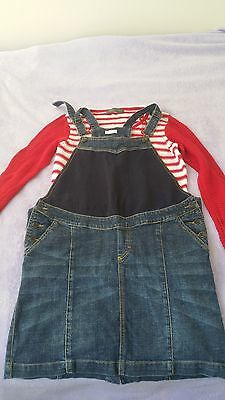 Mothercare maternity outfit, top and overall, size 10-12, VGC