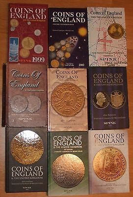BULK LOT of 9 Books - Spink Coins of England & the United Kingdom 1999-2010