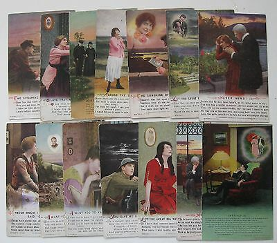 Collection of 78 Assorted Vintage Bamforth WW1 Song Cards Postcards