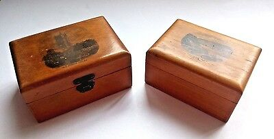 Mauchline Ware Wooden Box x 2 - LUDLOW CHURCH AND BAINTS BAY GUERNSEY