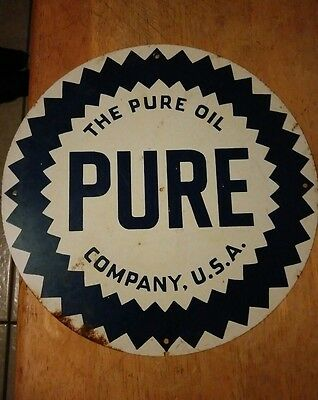 pure oil company sign look. Rare? Pure oil sign. Company USA