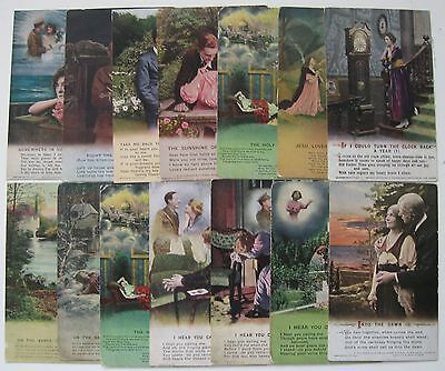 Collection of 70 Assorted Vintage Bamforth WW1 Song Cards Postcards