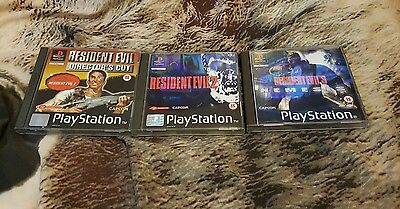 ps1 games resident evil x3 all complete