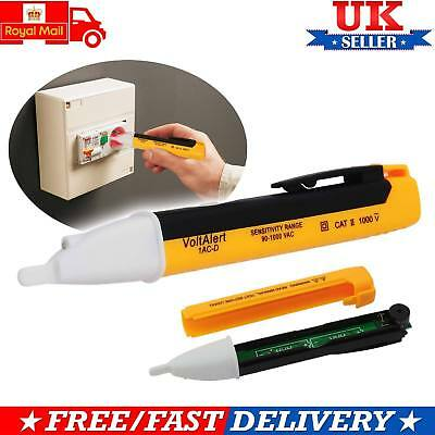 Voltage Tester Pen Volt Alert Detector Sensor Non-Contact Stick 1AC 90~1000V UK