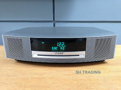 Bose Wave Cd Radio Alarm Clock Titanium Silver Music System