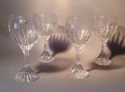 """Baccarat French Crystal Set Of 4 Massena Glasses """"new, Old Stock"""" Rare Vintage"""