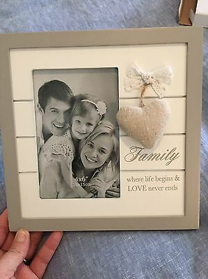 Photo Frame With Fabric Heart