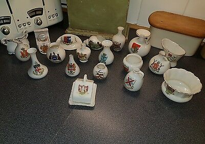 19 Pieces of Crested China - Various  Makers & Locations