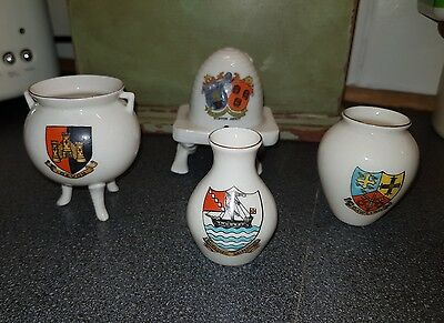 4 Pieces of Crested China  - Devon