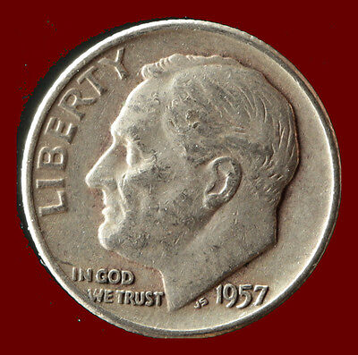 1957-D Roosevelt 90% Silver Dime Ships Free. Buy 5 for $2 off