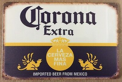Corona GARAGE Tin Metal Sign Rustic Look MAN CAVE Brand New AU SELLER