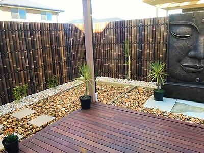 TRY BEFORE YOU BUY NEW 2.0m x 1m Bamboo Fence Screen Panel Divider Brown