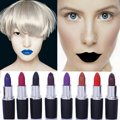 New Moisturising Lipstick - Matte Red Black Purple Blue Copper Magenta Vampire