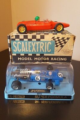 Vintage Triang Scalextric C/66 F J Cooper Red Boxed + C.050 Jps F1