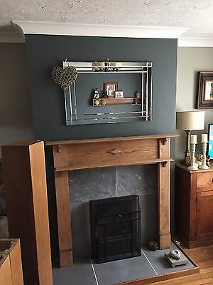 Edwardian /Victorian  Wooden Fire Surround Mantlepeice
