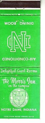 Matchbook Cover ! The Morris Inn, Notre Dame Campus, Indiana !