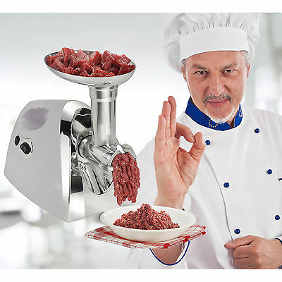 1200W Electric Food Meat Grinder Mincer Sausage Stuffer Stainless 3 Blades Home