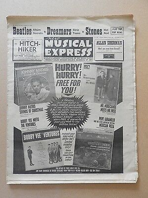 New Musical Express Nov 15 1963  Beatles Trini Lopez Rolling Stones ++