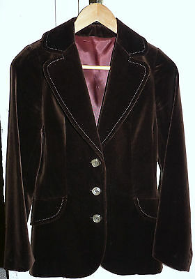 Maurice Henri Vintage Ladies Velvet Jacket - Size 10 - Superb Condition *rare*