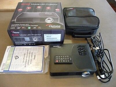 Optoma Mobile LED Projector. ML500. As new in box.  Perfect order. (2 available)