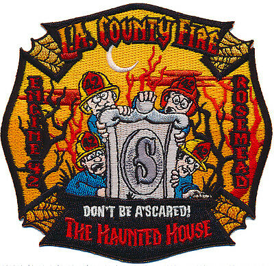 "LA County Fire Dept. 42 ""HAUNTED HOUSE"" JUNE 2017 (CALIFORNIA)  FIRE PATCH"