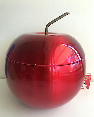 red anodised aluminium apple ice bucket LARGE size DAYDREAM australia retro