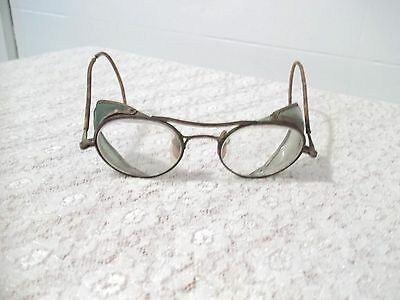 Vintage Bausch & Lomb Safety Eye Glasses with Green Side Shields