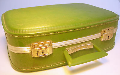 Vintage 1960s Ladies Weekend / Vanity Case with Internal Mirror (WH_0655)