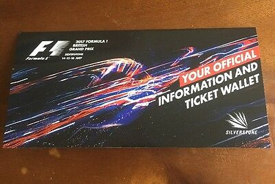 F1 British Grand Prix Silverstone Tickets X2 2017 Club