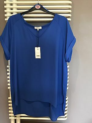 Ladies Blue Summer Lightweight TOP / Tunic SIZE 18 / New/ Tags