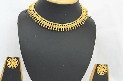 Bollywood Style Indian Gold Plated Jewellery Party Necklace Earrings Jhumki 247