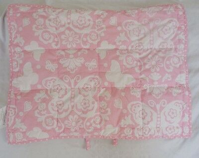 Pottery Barn Kids Butterfly Loft Quilted Sham Pink Mono Removed NWOT