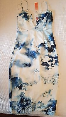BNWT Size 8 blue and white dress