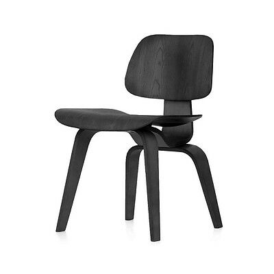 Eames Dcw Inspired Black Plywood Dining Chair Mid Century Modern Vitra